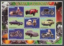 Afghanistan, 2001 Cinderella issue. Motorcycles & Autos sheet of 9.