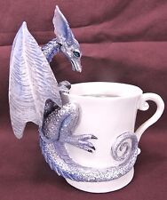Dragon on coffee cup Mythical Fantasy Figurine