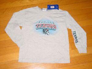 Official REEBOK  HOUSTON TEXANS   T-Shirt NEW / TAGS  YOUTH  -  MEDIUM 5-6