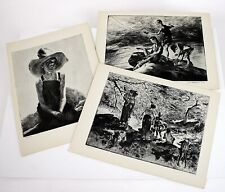 1939 JOHN E. COSTIGAN Lithographs Set of 3 Signed in Plates Am Artist Prints