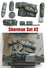 1/35 scale resin Sherman Tank Engine Deck and Stowage Sets #2