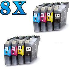 8x Ink For LC133 LC131 Brother DCP J152W J172W J752DW MFC J245 J470 J650 J870DW