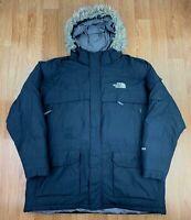 THE NORTH FACE Mens MCMURDO Parka Coat | Hooded 550 Down | 3X / 4XL Black