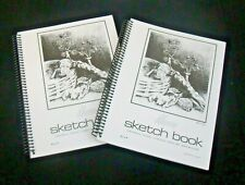 Sketch Book 8 1/2 x 11 Pencil,Pastel,Charcoal,Ink&Watercolor 100 Sheets Lot of 4