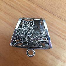 P041 2pc Tibetan Silver Charms OWL Pendant Hanger Bails Necklace scarf Connector