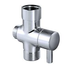 "T-Adapter Brass Toilet Bidet Sprayer Shattaf diverter shut off valve 3 Way 7/8"""