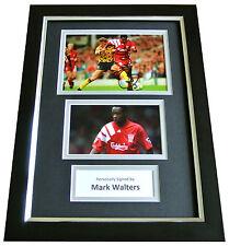 MARK WALTERS Signed A4 FRAMED Photo Autograph Display LIVERPOOL Football LFC COA
