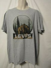 mens levi's  t-shirt XL nwt nature bear gray