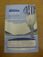 07/04/1956 West Bromwich Albion v Huddersfield Town  (Very Heavy Creased, Folded