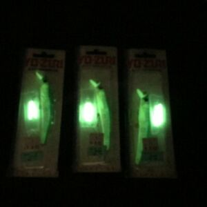 3Pcs Yo Zuri ARC Minnow Fishing Lure Floating 11g 14g Glow Stick Made In Japan