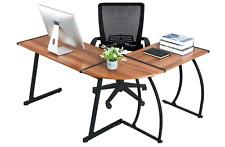Computer Desk Office Desk L-Shaped Wood Corner Desk Computer Workstation Large P