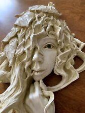 16� Greek Mythology Goddess Wood Nymph Wall Sculpture Garden Thomas Raine Uk
