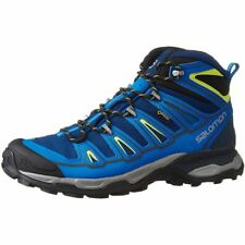 Salomon L39039100 Men's X Ultra Mid 2 GTX,Blue/Union Blue/Gecko Green, 8.5 M US