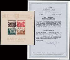 """SBZ Block 4 gestempelt """"Brückenblock 1946""""  Fotoattest"""