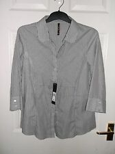 Ladies Blouse Half Sleeve With Button Fastening E-vie Collection With Tags (New)