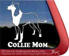 Collie Mom | High Quality Vinyl Smooth Collie Dog Window Decal Sticker