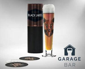 "Single Ritzenhoff Black Label Beer Glass ""Wolf"" Gift Boxed Brand New"