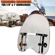 Large Smoked Windscreen Headlight Windshield For Harley Dyna Sportster Road BMW