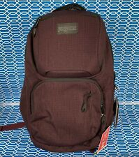 "NWT Jansport Nova Laptop Backpack Micro Grid Red 15"" Laptop bookbag"