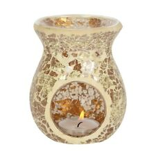 Gold crackle oil burner + 1 FREE DESIGNER wax melt  Mosaic GOLD Oil Burner