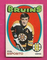 1971-72 OPC # 20 BRUINS PHIL ESPOSITO EX  CARD  (INV# D5918)