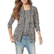 Talla 32/34 XS sweatblazer blazer sweatjacke chaqueta beige negro animal leo presión