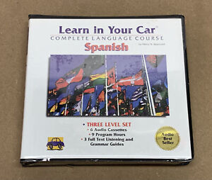 Learn In Your Car Spanish Complete Language Course 6 Audio Cassettes - Sealed