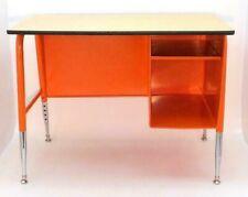 Orange Mid Century Petite Office Distance Learning School Desk Specify Color