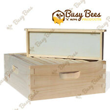 Langstroth Bee Hive 10 Frame Medium Box w/ Frames and Foundations
