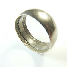 Mens Antique Florin Coin Ring Silver Wedding Ring Two Shillings Coin Ring 1948