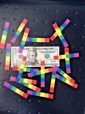 X 20 !   Mini RAINBOW GAY PRIDE  BUMPER STICKERS Only $ 5.95