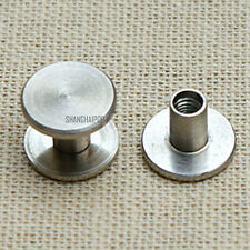 10 X Stainless Steel Binding Screw Chicago Nail Stud Rivet Interscrew Belt Bag