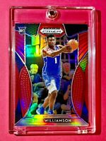 Zion Williamson RED REFRACTOR ROOKIE PANINI PRIZM INSERT DRAFT PICKS RC #64 MINT