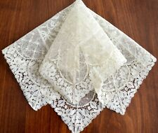 Vintage 1920-1940s Wedding Hanky Never Used New Old Stock Complete Lace Ivory