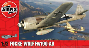 Airfix Curtiss Focke-Wulf Fw190A-8 1:72 Scale Plastic Model Plane Kit A01020A
