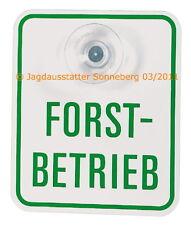 Forstbetriebschild, Kennzeichen Forstbetrieb mit Saugnapf, Fahrzeugschild Forst
