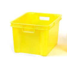 Medium Plastic Storage Box, Stackable, Tub, Crate, Container, Clear, Transparent