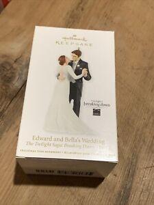 Hallmark Keepsake Ornament Edward Bella Wedding Twilight Saga Breaking Dawn 2012