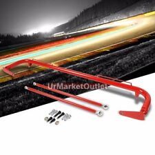 "Red Mild Steel 49"" Racing Safety Chassis Seat Belt Harness Bar/Across Tie Rod"