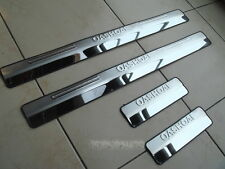 Nissan Qashqai 2007-15 SET OF 4 DOOR SILL GUARD SCUFF STAINLESS STEEL PLATE, NEW