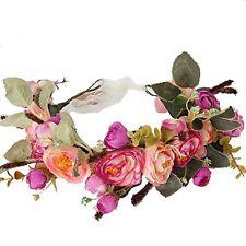 Meiliy Natural Berries Reeds Flower Garland Crown Flower Headband Hair Wreath