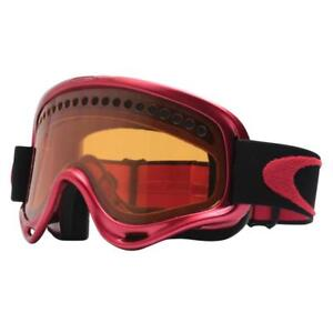 Oakley 02-485 XS O Frame Ruby Red Persimmon Lens Kids Youth Snow Ski Goggles .