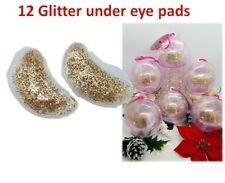 12 Cooling under eye pads Glitter Gold - Ornament balls -New