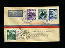 Zeppelin Sieger 167 I 1932 250th Switzerland Flight Liechtenstein Post on cover
