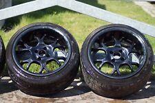 Schwarze Borbet Alu-Felgen - 16 Zoll - Lochkreis 4x100 - mit Reifen