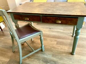 Country kitchen table and chairs or Office Desk