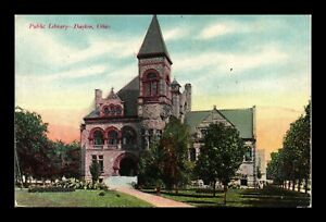DR JIM STAMPS US PUBLIC LIBRARY IN DAYTON OHIO UNDIVIDED BACK UNUSED POSTCARD
