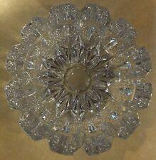 "HEAVY VTG  CLEAR CRYSTAL GLASS ROUND ASHTRAY WITH BEAUTIFUL DESIGN 6.25"" 2 LBS"
