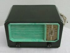SUPERB ART DECO GREEN BAKELITE TUBE RADIO, MADE IN ARGENTINA, BEAUTIFUL, WORKS