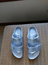 Birkenstock EVA Waterproof Arizona Sandals Silver Women's Size 40; US Size 9
